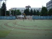 テニスコート工事中